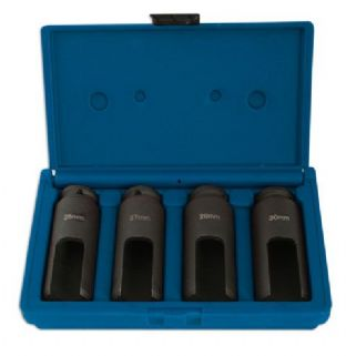 "Laser 4843 4 Piece 1/2"" Drive Diesel Injector Nozzle Sockets"